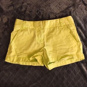J. Crew Chino Shorts Lime Green